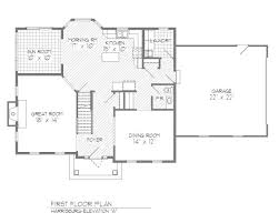 Colonial Floor Plans Apartments Open Floor Plan Colonial Open Floor Plan Center Hall