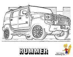 color page of the hummer front view coloring sheets to print at