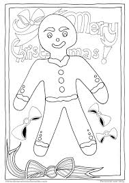 christmas gingerbread coloring pages getcoloringpages com