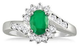 flower emerald rings images 1 carat emerald and diamond flower ring jpg