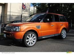 range rover truck black 2006 vesuvius orange metallic land rover range rover sport