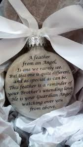 brother memorial christmas ornament w wing charm a feather
