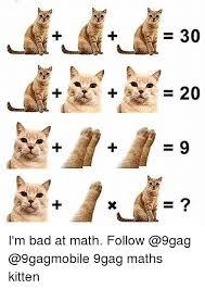 Meme Gag - 30 2 i m bad at math follow 9gag maths kitten 9gag meme on