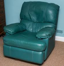 hunter green leather recliner ebth