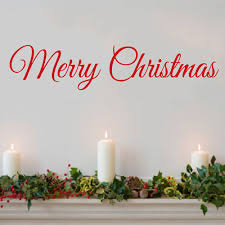 Christmas Wall Pictures by Merry Christmas Decal Door Decor Wall Decal Word Merry Christmas