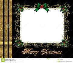 christmas border photo frame elegant stock illustration image