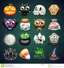 free halloween icon halloween cartoon icons set stock vector image 44625670