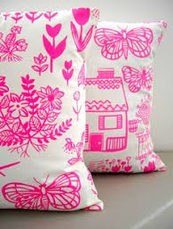 Pink Bedroom Cushions - meet the home collective gorgeous hand printed linen cushions