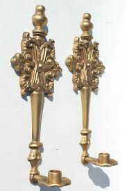 Gold Wall Sconce Candle Holder Vintage French Country Ornate Gold Candle Sconces Metal Wall