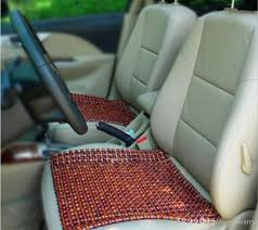 brown wooden beads wooden car seat cushion a bag cool side massage