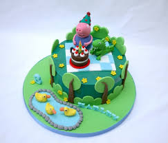 George Pig Cake Decorations George Pig Smash Cake Peppa Pig Pinterest George Pig Smash