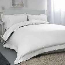 belledorm white 400 thread count egyptian cotton double duvet cover