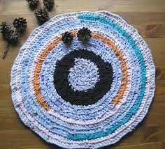 blue seat mat crochet cats bed crochet round blue play mat small