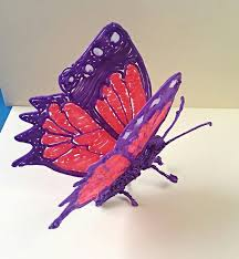 dragon 3 3doodler whatwillyoucreate dragon 3d butterfly 3doodler creatie van een vlinder gemaakt door