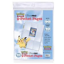 9 pocket pages pokémon 9 pocket pages 10 pack ultra pro