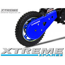 motocross bike parts uk mini nitro 800w dirt bike plastic chain guard cover in blue