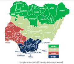 Nigeria State Map by Mapping The Unlikely Break Up Of Nigeria Geocurrents