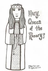 paper dali mary queen of the rosary maria la reina del rosario