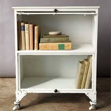 vintage style white metal cabinet nightstand a cottage in the city