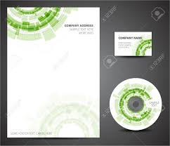 Business Letterhead Paper by Design Template Set Business Card Cd Paper Royalty Free
