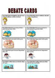 english teaching worksheets debate