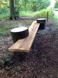 tree trunk garden seats wood log ideas for your garden decor tree