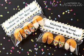 new year s fortune cookies glitter dipped fortune cookie party favors happiness is