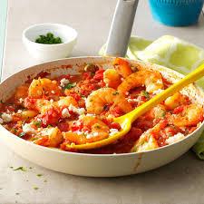 feta shrimp skillet recipe taste of home