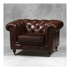 The Chesterfield Sofa Company Armchair Cushion Mini Armchair Large Leather Chesterfield Sofa