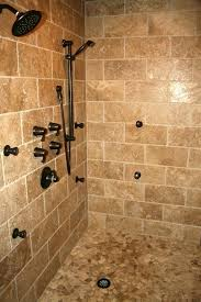 bathroom shower stall designs custom showers design tile shower with cobblestone floor custom
