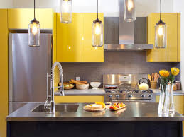 Backsplash For Yellow Kitchen Yellow Kitchen Cabinets And Backsplash Ideas For Small Kitchen