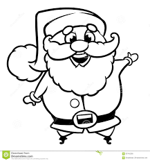 outline of a santa claus christmas character line art stock