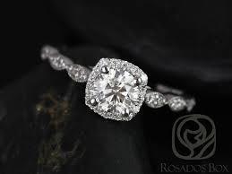 Diamond Cushion Cut Ring Rosados Box Christie 6mm Platinum Round Diamond Cushion Halo With