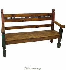 Southwest Outdoor Furniture by Style Painted Wood Bench