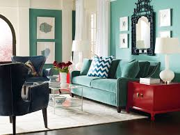 love the sofa and accent wall plus the zig zag pillows the red