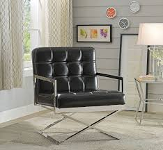 Black Leather Accent Chair Leather Accent Chair
