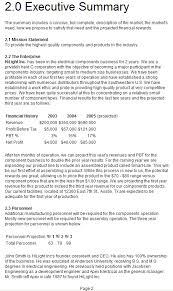 7 executive summary sample pdf biography samples