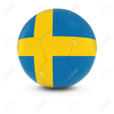 Sweedish Flag Sweden Football Swedish Flag On Soccer Ball Stock Photo Picture