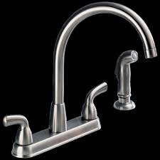 chrome two handle kitchen faucet single hole side sprayer touch
