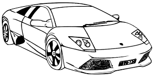 free lamborghini coloring pages print