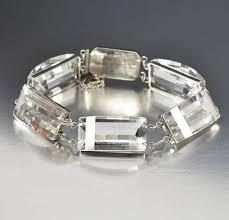 sterling silver crystal bracelet images Art deco sterling silver quartz rock crystal bracelet boylerpf jpg