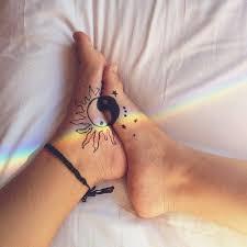 creative whimsical girly sun moon yin yang girly