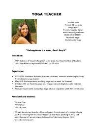 Yoga Teacher Resume Sample by Yoga Teacher Resume Unforgettable Yoga Instructor Resume Examples