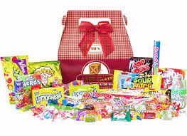 gift boxes vintage candy gift baskets retro candy candy crate