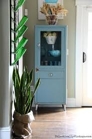 Vintage Blue Cabinets Eclectically Fall Home Tour
