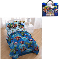 Marvel Bedding Marvel Avengers Assemble Smash 4 Piece Bedding Set With Bonus Tote