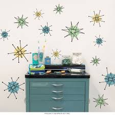 Wizard Of Oz Wall Stickers Atomic Starburst 50s Style Wall Decals Sheet Medium Removable