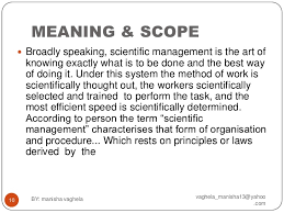 pre scientific management theory