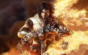 wallpaper dark prince flaming dark prince of persia two thrones wallpaper