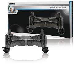 Desktop Computer Stands Adjustable Desktop Computer Stand Trolley Mobile Pc Black